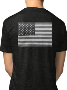 American Flag black-and-white  Tri-blend T-Shirt
