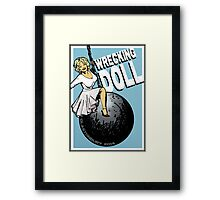 Wrecking Doll (blue) Framed Print