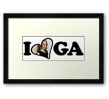 I Heart GA Framed Print