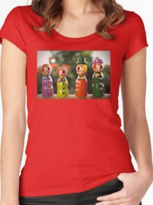 Clowning Around  : o) Women's Fitted Scoop T-Shirt