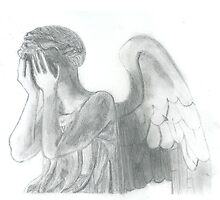 Weeping Angel Doctor Who Sketch by BlueBoxSketches