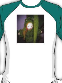 Caterpillar Girl Child on a leaf T-Shirt
