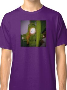 Caterpillar Girl Child on a leaf Classic T-Shirt
