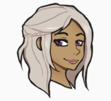 Chibi Daenerys Targaryen - Transparent BG Sticker by BlackLemonJuice