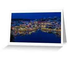 Town in the night Greeting Card