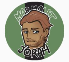 Chibi Jorah Mormont - Round Sticker 01 by BlackLemonJuice