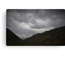 It's about to get stormy Canvas Print