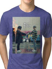 BTS FIRE  Tri-blend T-Shirt