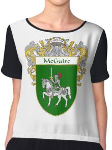 McGuire Coat of Arms/Family Crest Chiffon Top