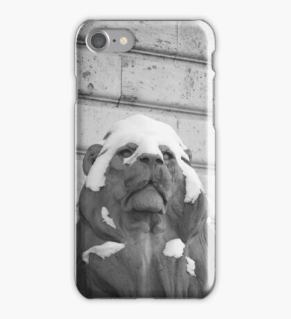Lion With Snow Cap iPhone Case/Skin