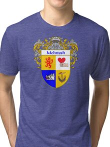 McIntosh Coat of Arms/Family Crest Tri-blend T-Shirt
