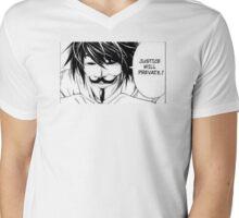 Justice will prevail! Mens V-Neck T-Shirt