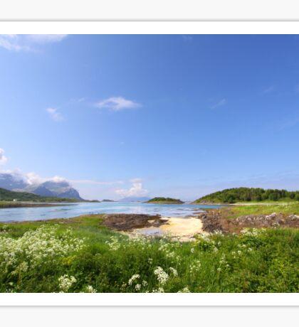 Norwegian Landscape Sticker