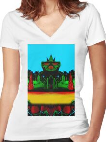 Vivid 2016 Primordial Temple Women's Fitted V-Neck T-Shirt