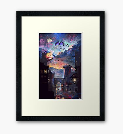 'Setting fire to the rain Framed Print