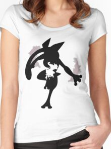 Froakie - Frogadier - Greninja ( Evolution line ) Women's Fitted Scoop T-Shirt
