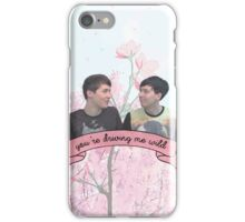 Dan and Phil Cherry Blossoms iPhone Case/Skin