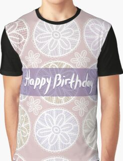 Happy Birthday Card Vintage lace  Graphic T-Shirt