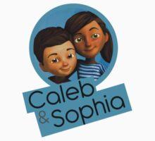 Caleb and Sophia (circle blue) Baby Tee