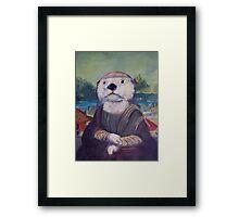 Mona Lisa Otter Framed Print