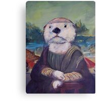 Mona Lisa Otter Canvas Print