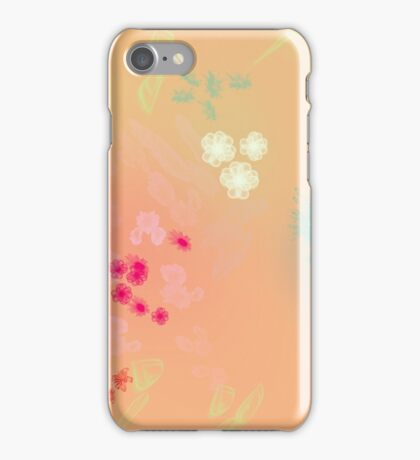 Floral life explosion - peach iPhone Case/Skin