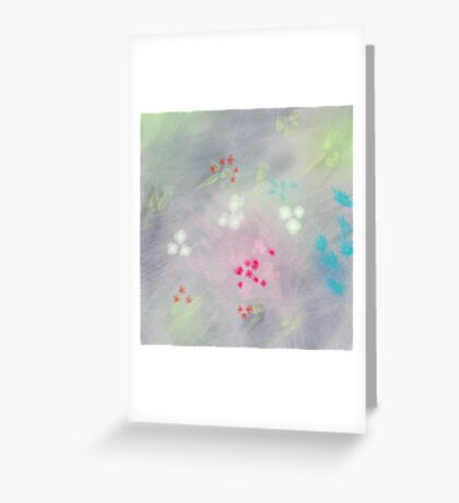 Floral life explosion - grey Greeting Card