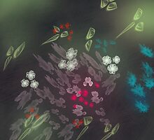 Floral life explosion - dark by CatchyLittleArt