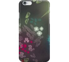 Floral life explosion - dark iPhone Case/Skin