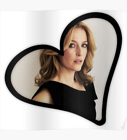 Gillian Anderson Heart Poster