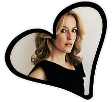 Gillian Anderson Heart Photographic Print