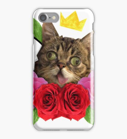 cat and roses iPhone Case/Skin