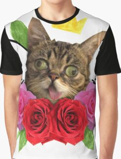 cat and roses Graphic T-Shirt