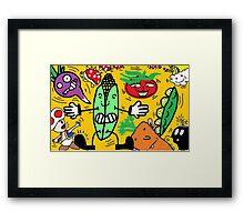 Fruits and Nintendo Framed Print