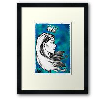 Dotwork Rat Queen Framed Print