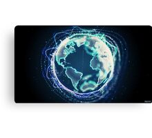 World Of Sound | Planet Earth Canvas Print