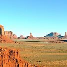 Monument Valley Panorama by Graeme  Hyde