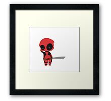 Chibi Deadpool Framed Print