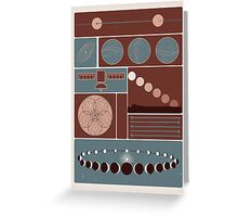 Astronomy Poster Greeting Card