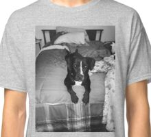 Nela on bed gray scale  Classic T-Shirt