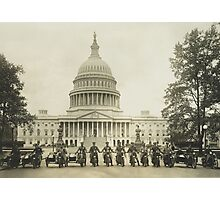 Vintage Motorcycle Police - Washington DC Photographic Print