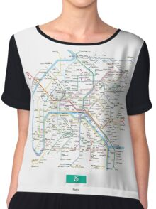paris subway Chiffon Top
