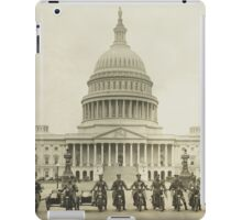 Vintage Motorcycle Police - Washington DC iPad Case/Skin