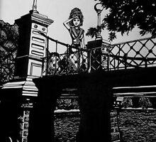 On the Bridge, Boston Public Garden by Carrie White