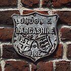 London and Lancashire Fire Shield by wiggyofipswich