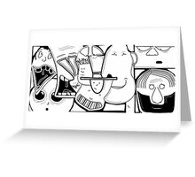 Characters  Greeting Card
