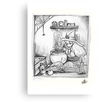 Lil' Tiny Brewing Witch Canvas Print