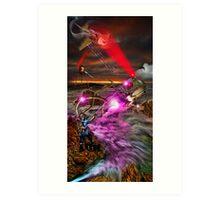 RayGun Rex , battle for the Toys Art Print