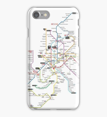 madrid subway iPhone Case/Skin