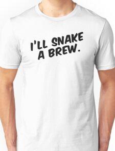"""I'll snake a brew."" Unisex T-Shirt"